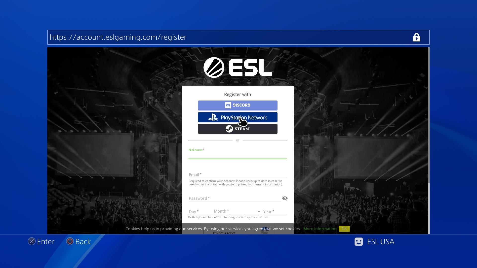 Playstation Dashboard | ESL Play