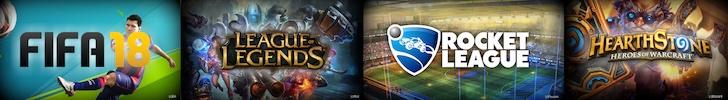 Die Spiele der saison 2018: LoL, Rocket League, FIFA und Hearthstone