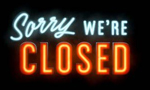 Sorry, we're CLOSED (almost!)