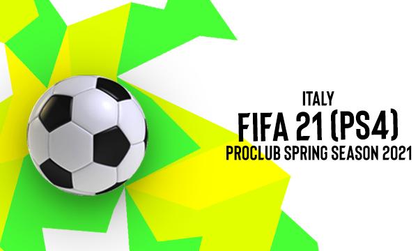 Al via la seconda stagione FIFA 21 (PS4) Pro Club Spring Season Italy!